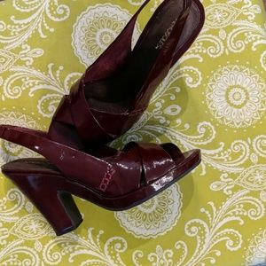 Aerosoles Red Leather Shoes,  9 1/2 M